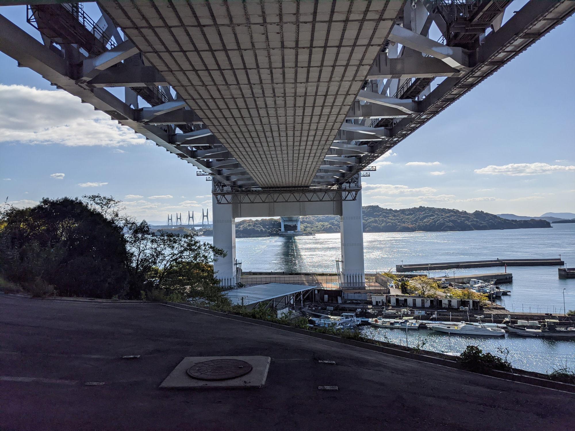 瀬戸大橋を下から見た風景