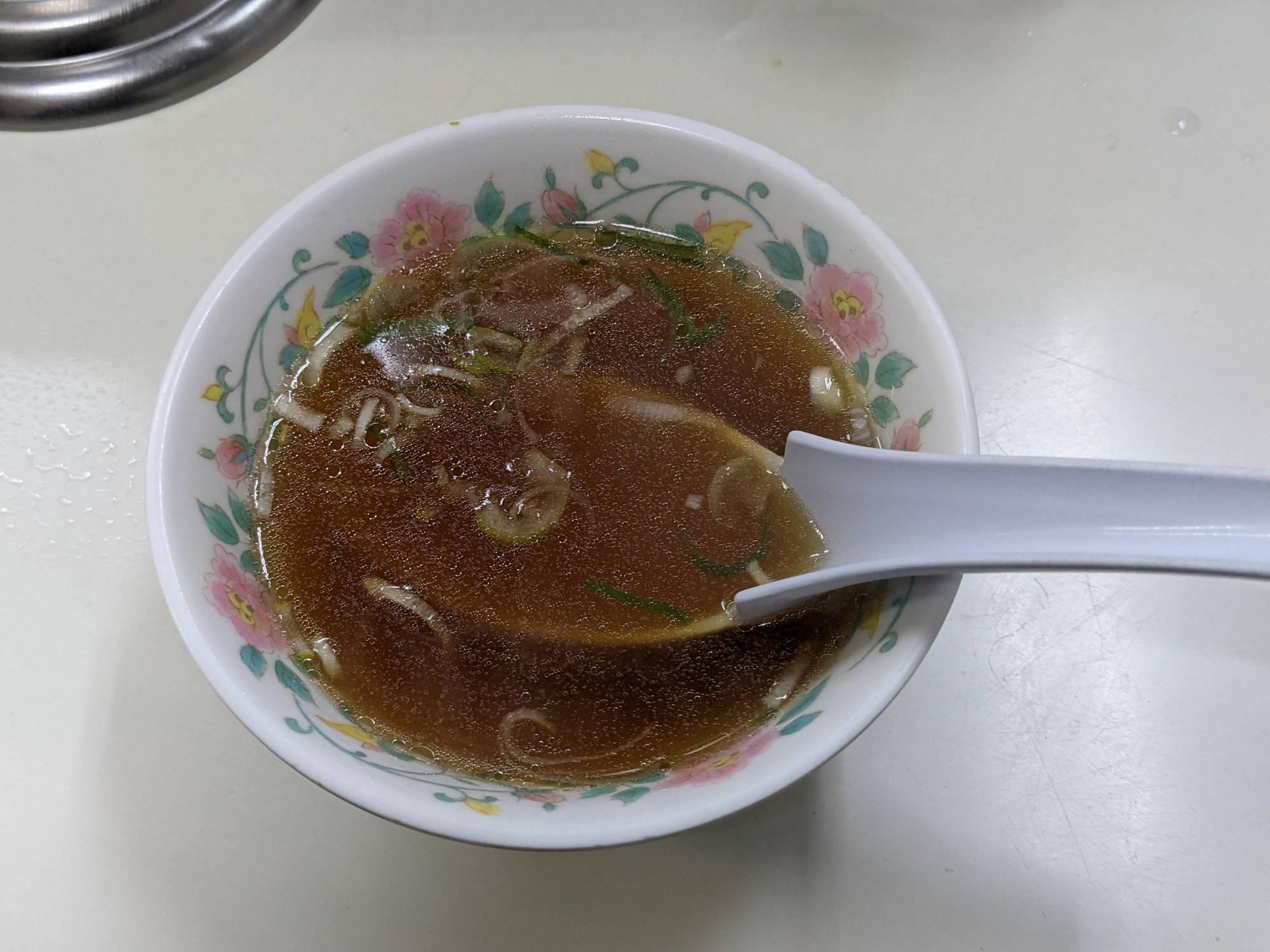 「カニチャーハン」のスープ