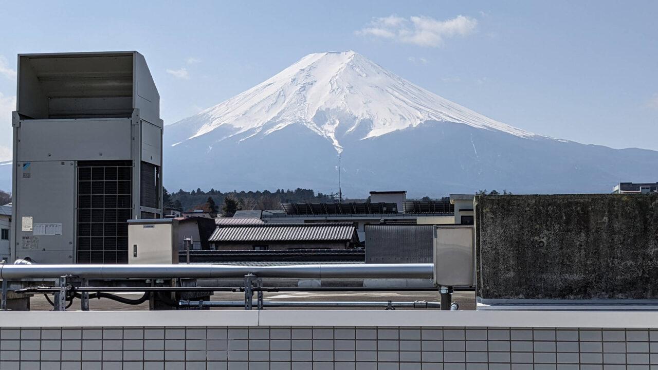 富士吉田A邸から見える富士山