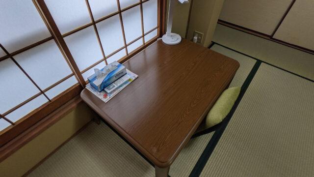 富士吉田A邸の個室の机