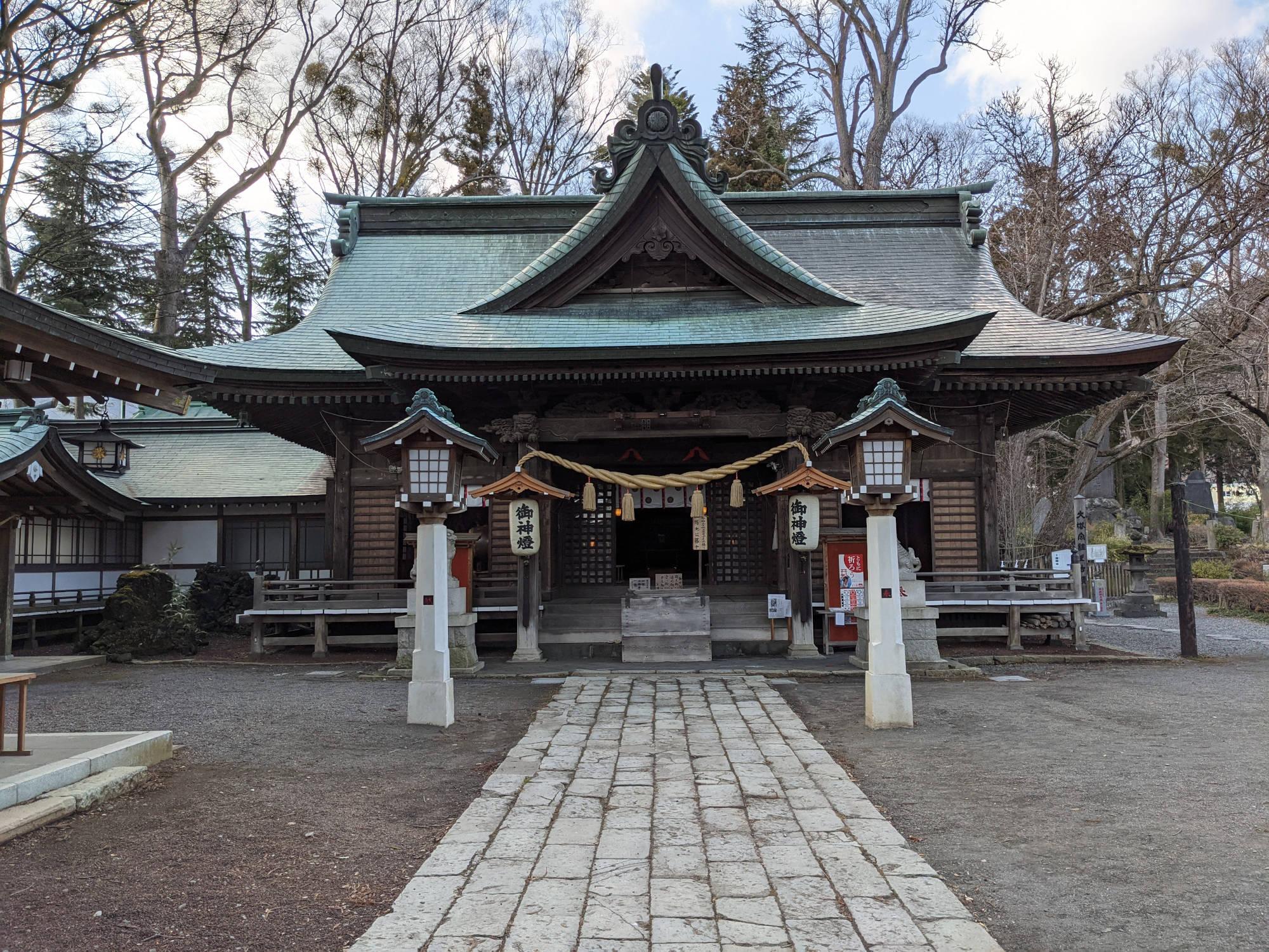 小室浅間神社の拝殿