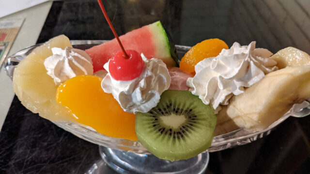 熱海 パインツリーのフルーツアラモード