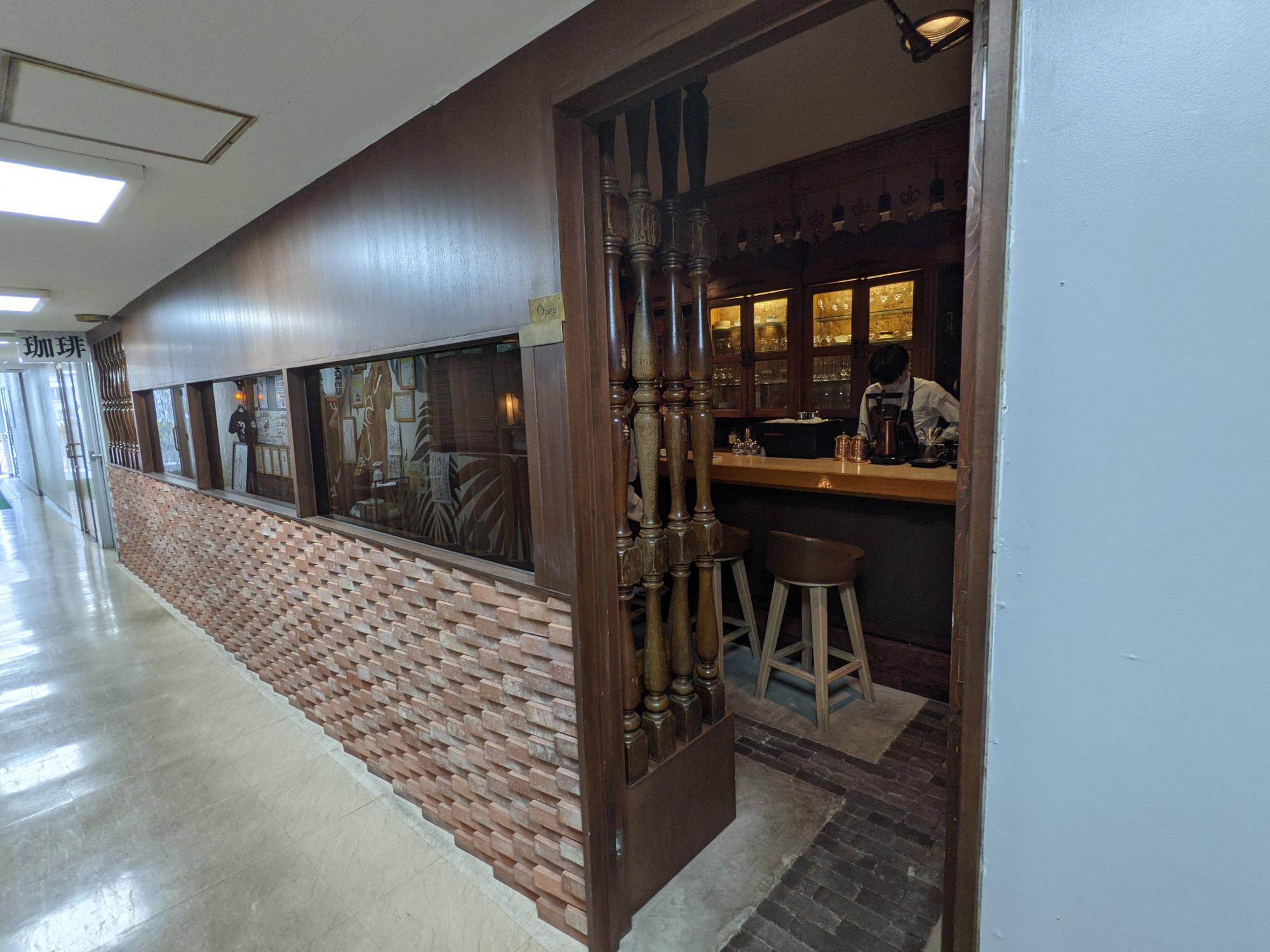 喫茶サテラの入り口