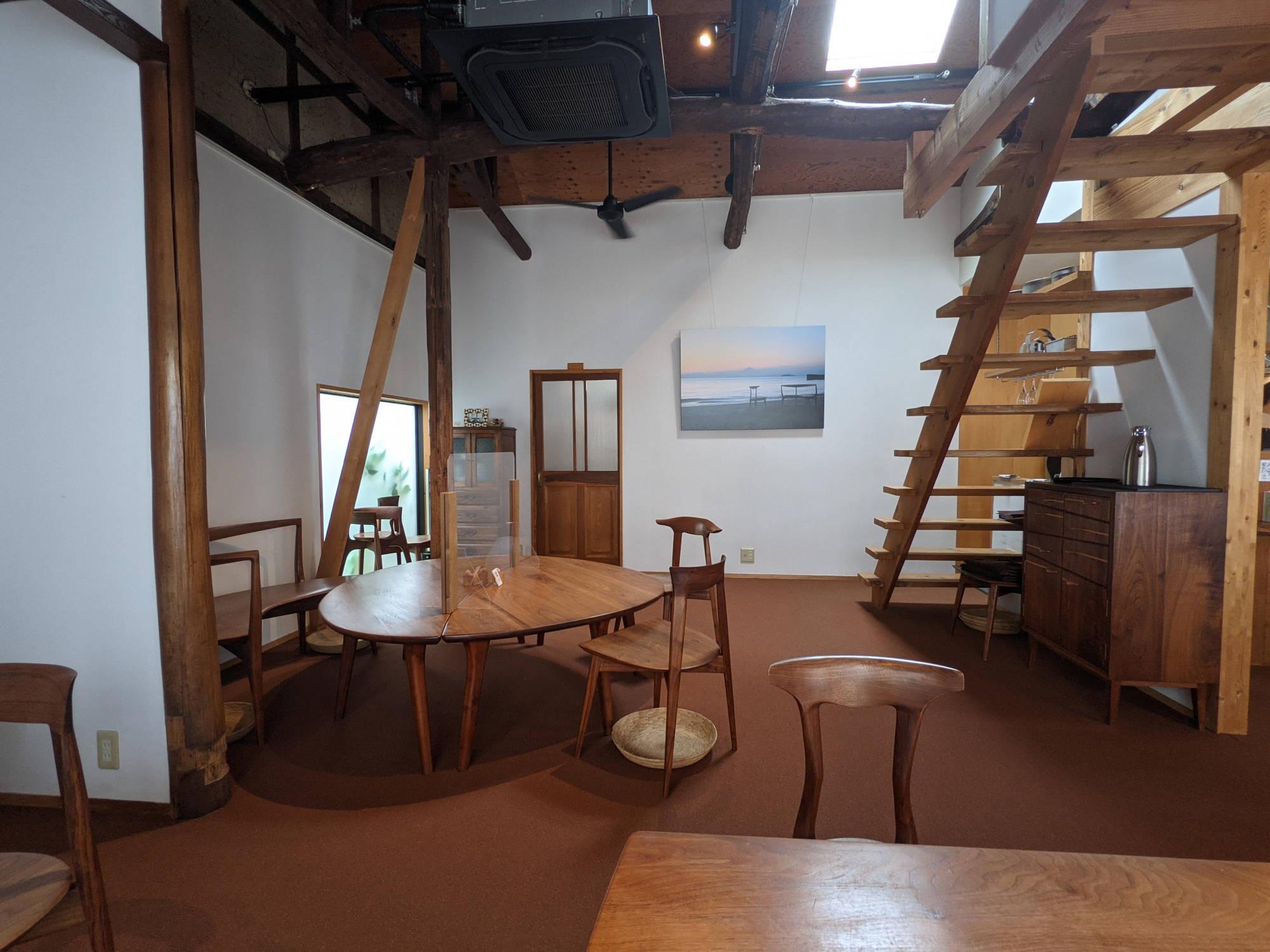 「cafe recette 鎌倉」の店内