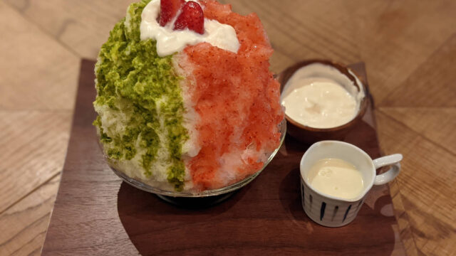【渋谷】「ささ屋」いちごとピスタチオミルク