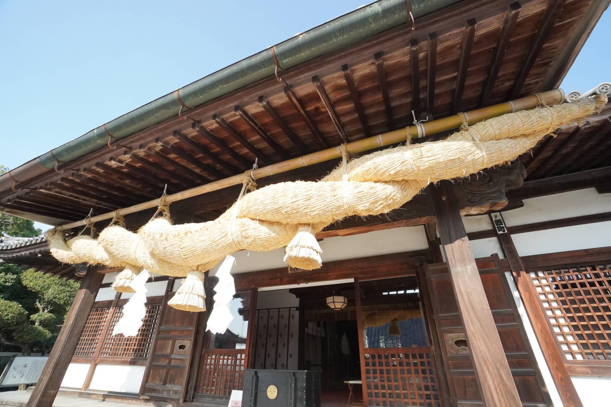 阿智神社 拝殿のしめ縄