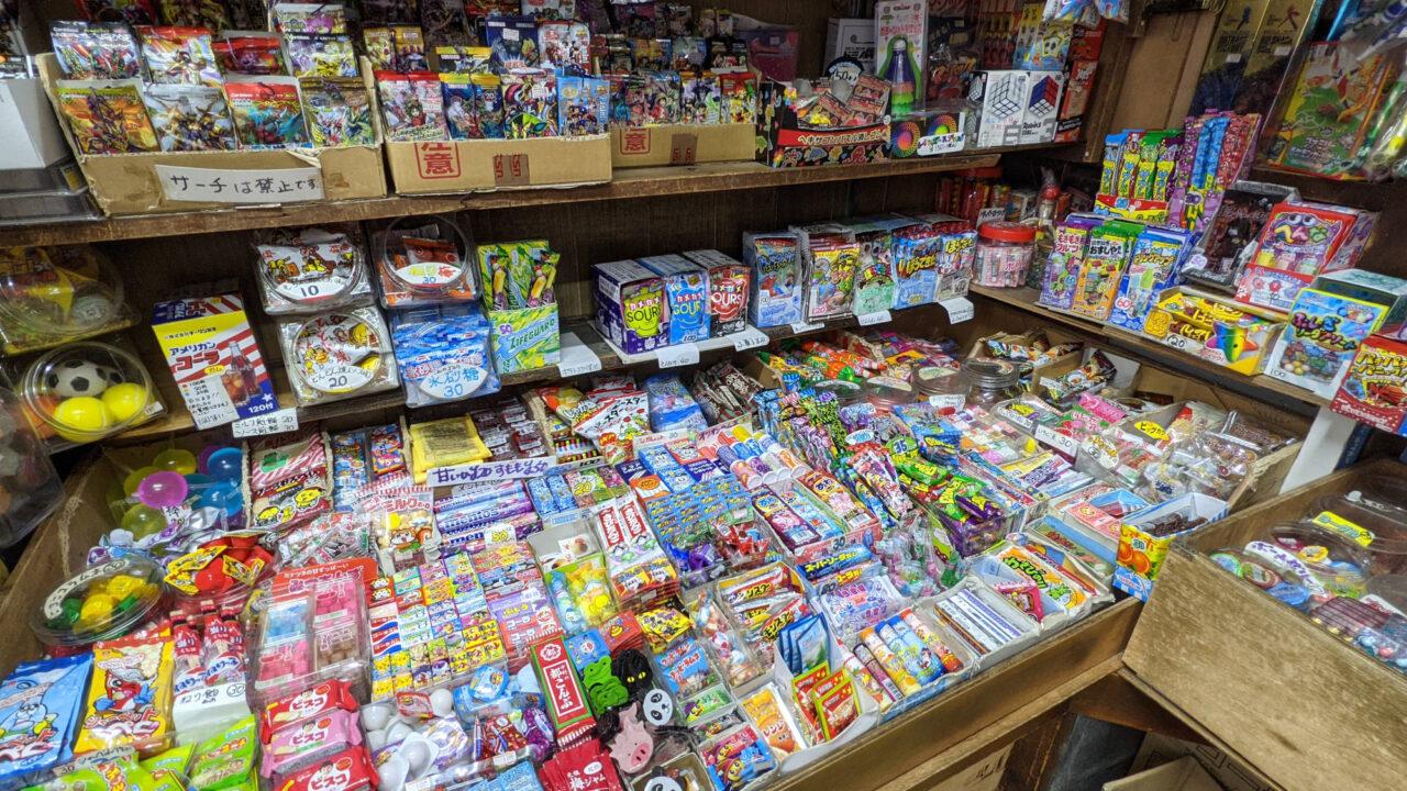駄菓子の売り場コーナー
