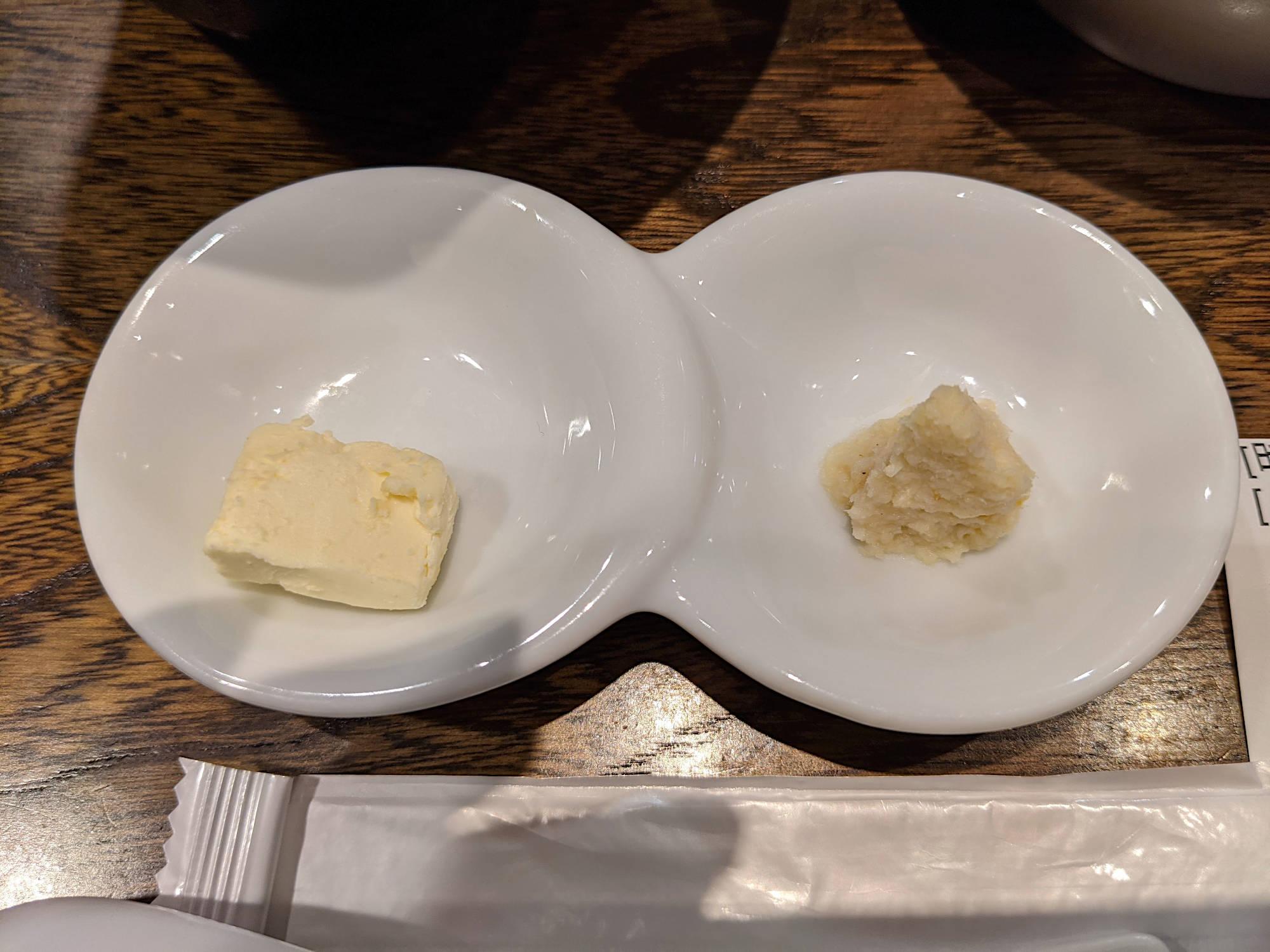 クリームチーズと山わさび